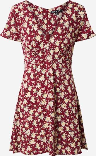 Motel Poletna obleka 'elara' | mešane barve / vinsko rdeča barva, Prikaz izdelka
