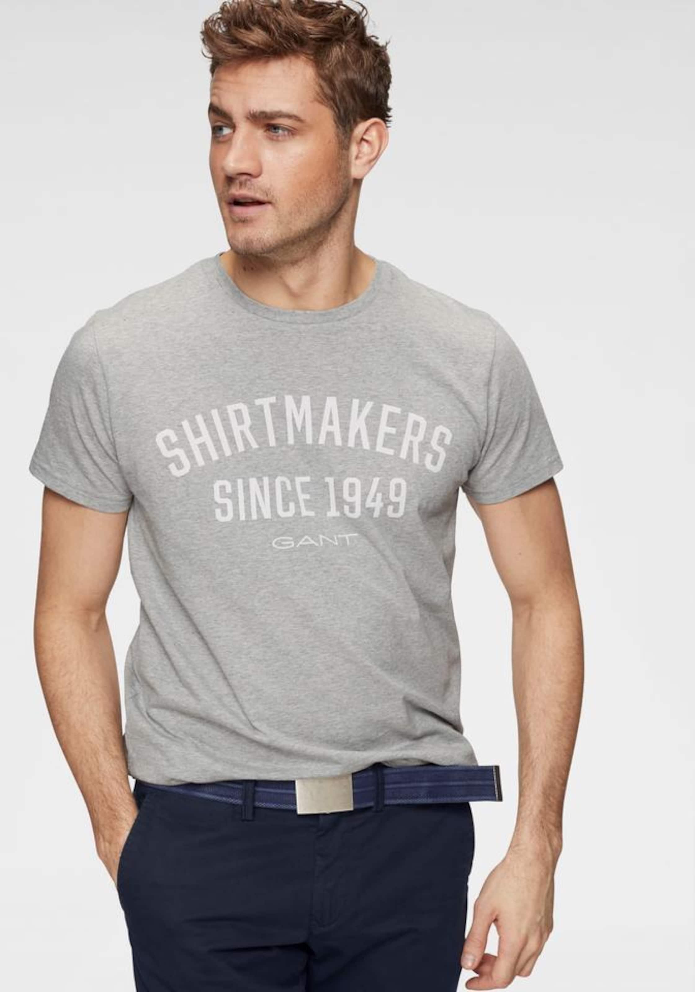 Gant shirt T GraumeliertWeiß GraumeliertWeiß Gant In T In shirt Gant T shirt WCreEQdxBo