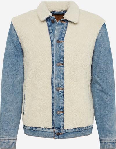 LEVI'S Jacke 'SHERPA PANEL TRUCKER' in beige / blue denim, Produktansicht