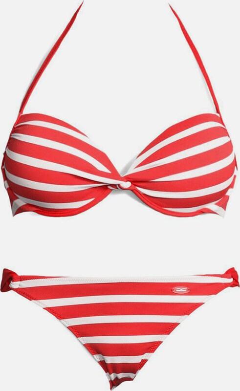 VENICE BEACH Push-up-Bikini in grenadine   cranberry   weiß  Neu in diesem Quartal