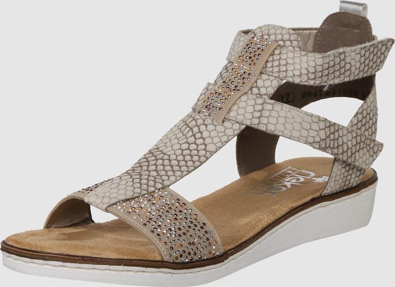 RIEKER Sandale mit kleinem Absatz