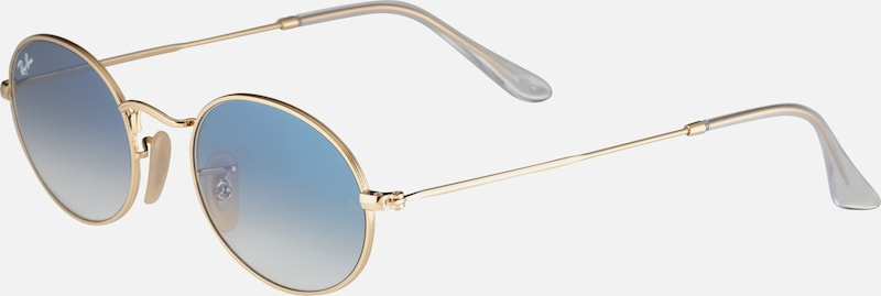 Ray-Ban Casual Sonnenbrille 'OVAL' in hellblau / gold, Produktansicht