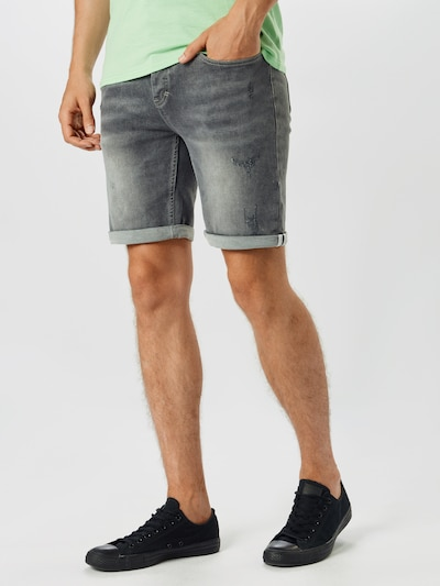 Hailys Men Jeans 'Marek' i grey denim, Modelvisning
