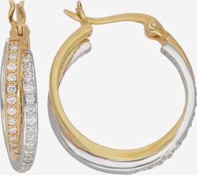 FIRETTI Creolen in goldgelb / silber, Produktansicht