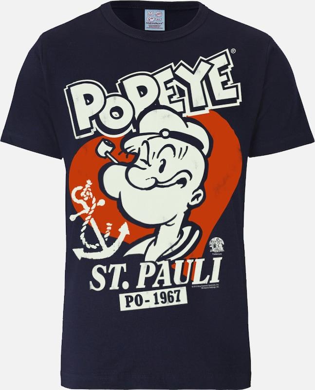 """LOGOSHIRT T-Shirt """"Popeye der Seemann - St Pauli"""""""