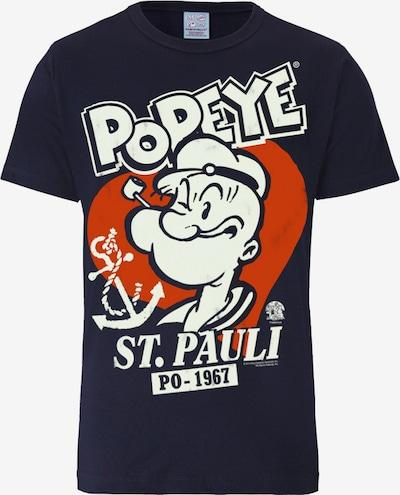 """LOGOSHIRT T-Shirt """"Popeye der Seemann - St Pauli"""" in nachtblau / dunkelorange / weiß, Produktansicht"""