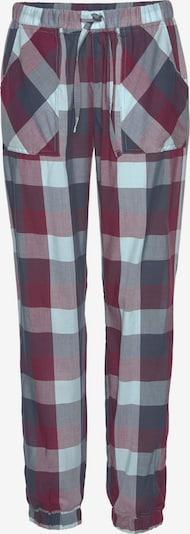 LASCANA Spodnji del pižame | marine / svetlo modra / vinsko rdeča barva, Prikaz izdelka
