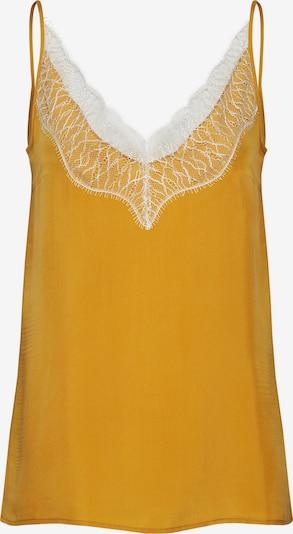 DRYKORN Top 'LETITIA' in de kleur Geel / Wit, Productweergave