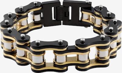 ZIPPO Armband Biker Kette schwarz/gold in gold / schwarz: Frontalansicht