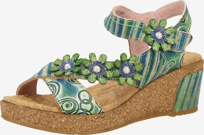 Laura Vita Sandalen in grün, Produktansicht