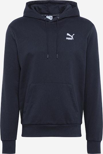 PUMA Sweat-shirt en noir / blanc, Vue avec produit