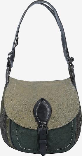 Caterina Lucchi Schultertasche in khaki / tanne / schwarz, Produktansicht