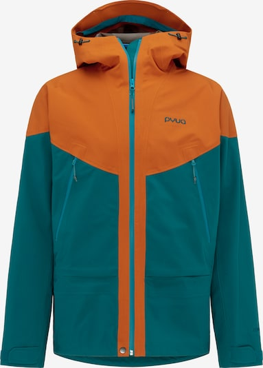 PYUA Winterjacke 'Gorge-Y' in türkis / orange, Produktansicht