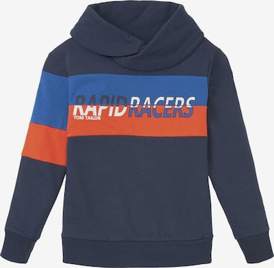 TOM TAILOR Strick & Sweatshirts Sweatshirt mit Stehkragen in blau, Produktansicht