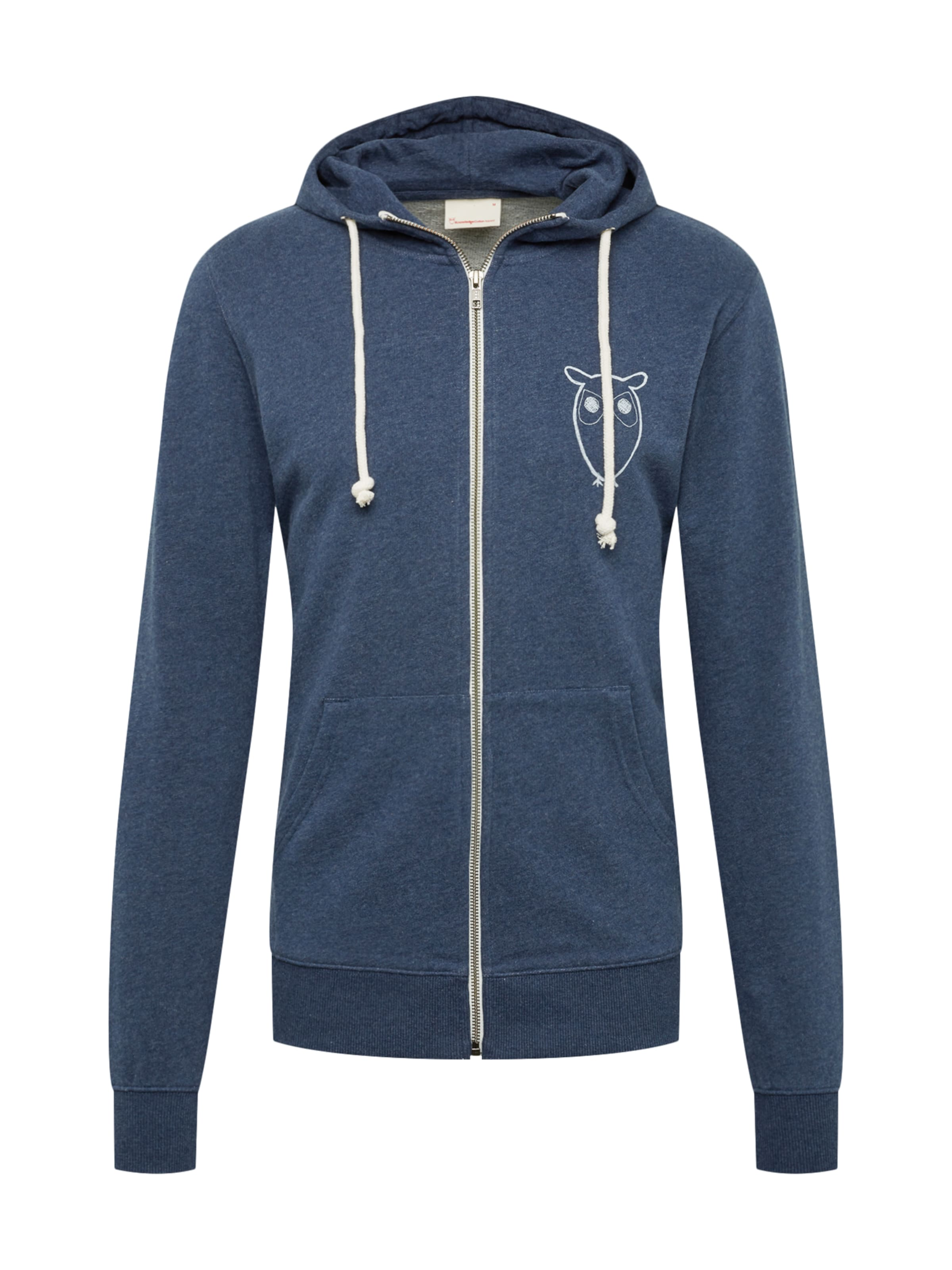 Blau Chest Sweatjacke Sweat 'zip Hood Apparel In Owl LogoGots' Knowledgecotton With 9YWIDEH2