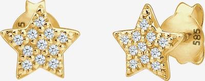 Diamore Ohrringe 'Sterne' in gold / weiß, Produktansicht