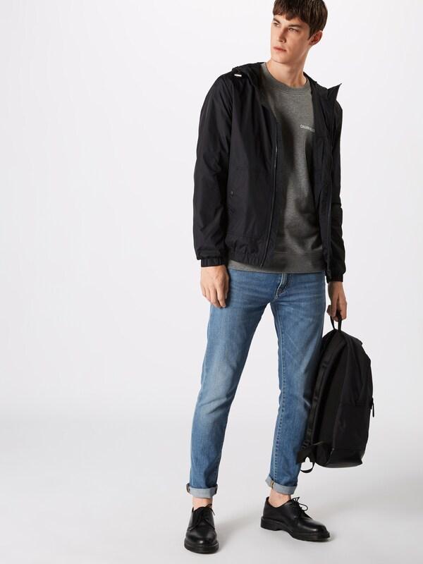 Noir Mi Calvin Zip Jacket' Klein En saison Jeans 'hooded Veste Up VzpSqMGU