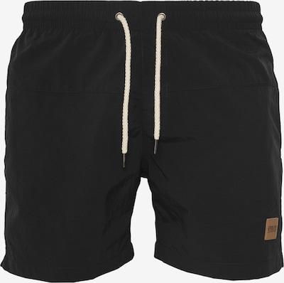 Urban Classics Badeshorts 'Block Swim Shorts' in schwarz, Produktansicht