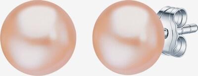Valero Pearls Perlenohrstecker Süßwasser-Zuchtperle in apricot / silber, Produktansicht