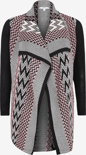 ABOUT YOU Curvy Gebreid vest 'Leandra' in de kleur Rosa / Zwart / Wit, Productweergave