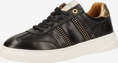 PANTOFOLA D'ORO Sneaker in gold / schwarz / weiß, Produktansicht