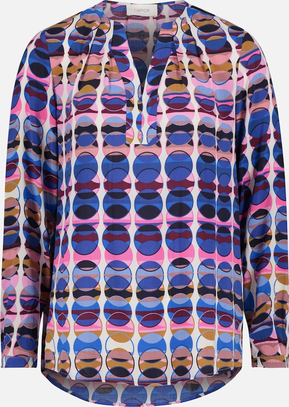 In Cartoon Pink Sinaasappel Blouse Blauw R5w5qTgx6