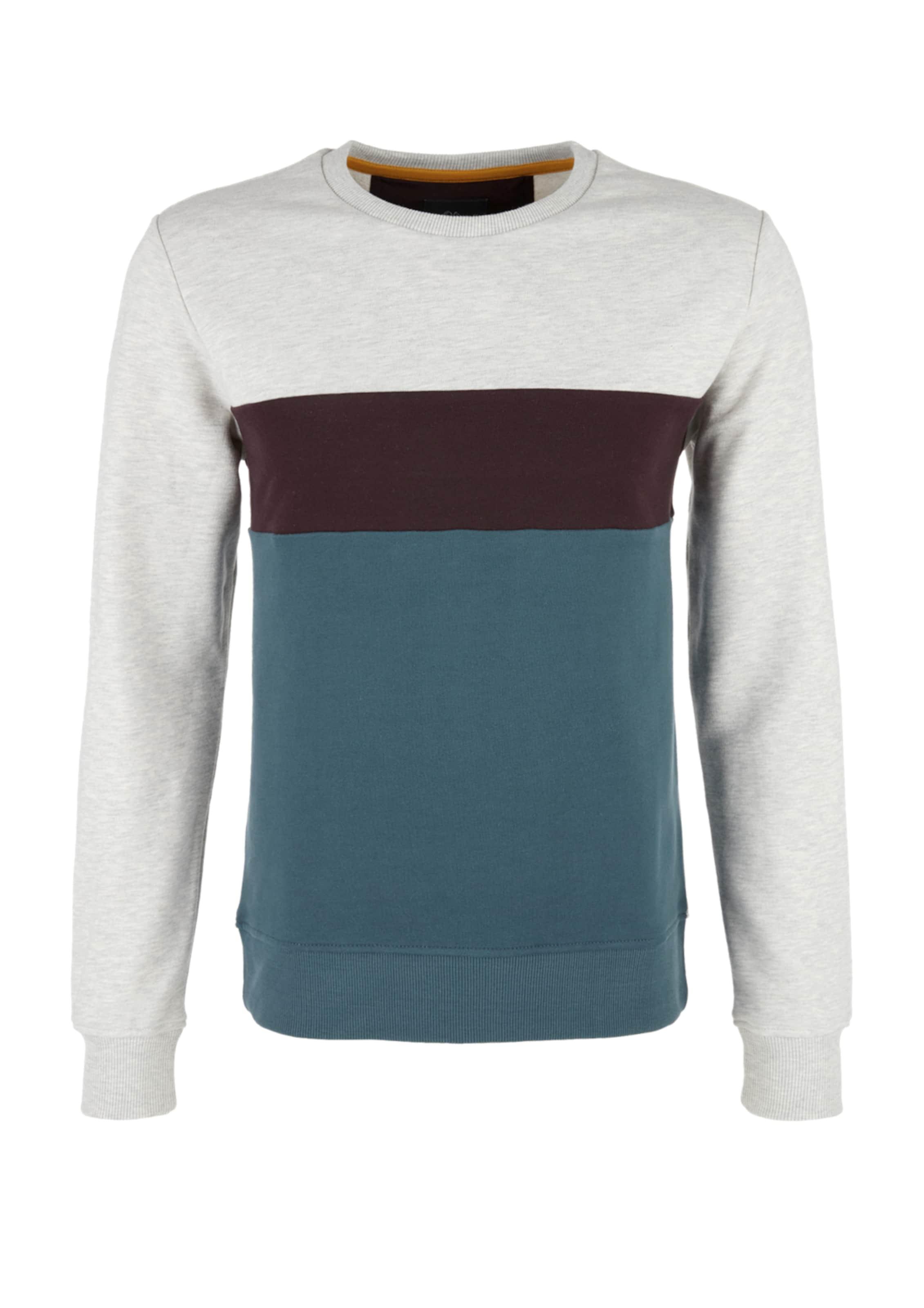 TaubenblauSchwarz Sweatshirt oliver Weißmeliert S In l1KcFJT