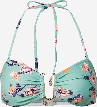PIECES Bikinitop 'NYNNE' in grün / mischfarben, Produktansicht