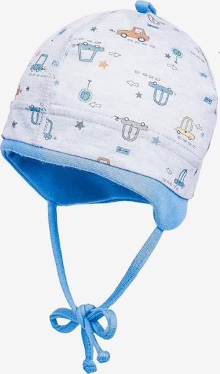 MAXIMO Mütze in rauchblau / weiß, Produktansicht