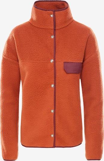 THE NORTH FACE Fleecejacke in dunkelorange / bordeaux, Produktansicht