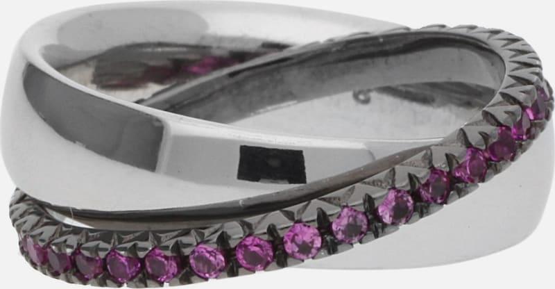 Esprit Mesdames 2 Pièces Doigt Bague 925 Argent / Rose Coeur Pellet Esrg91774d