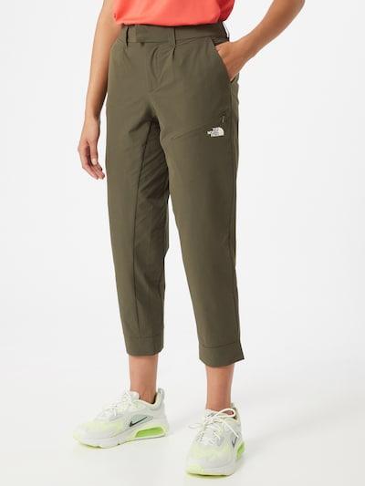 THE NORTH FACE Outdoorové kalhoty 'Influx' - olivová / bílá, Model/ka