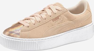 PUMA Sneaker 'LunaLux' in creme / weiß: Frontalansicht