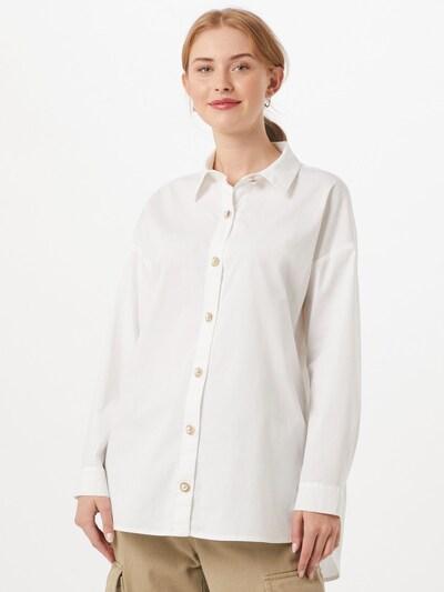 ONLY Chemisier 'Hemd' en blanc, Vue avec modèle