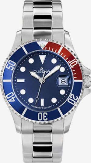 DUGENA Uhr in blau / rot / silber, Produktansicht