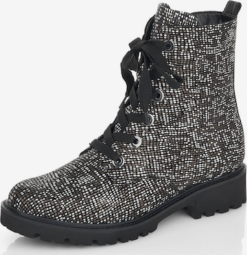 REMONTE Lace-Up Ankle Boots in Black