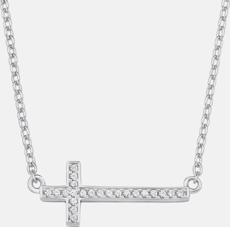 s.Oliver RED LABEL Silberkette 'Kreuz'