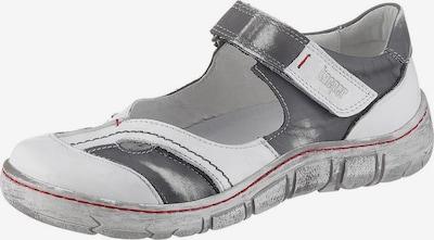 KACPER Riemchenballerina in grau / weiß, Produktansicht