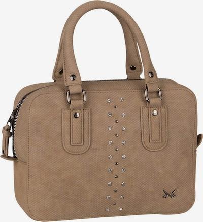 SANSIBAR Handtasche ' Bowling Bag 1320 ' in braun: Frontalansicht