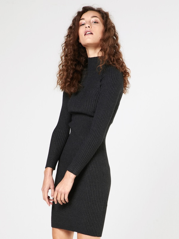 even&odd Kleid in gerippter Optik