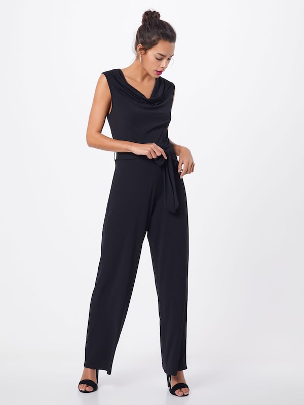 Mela London Overall 'COWL NECK SLEEVELESS JUMPSUIT' in schwarz: Frontalansicht
