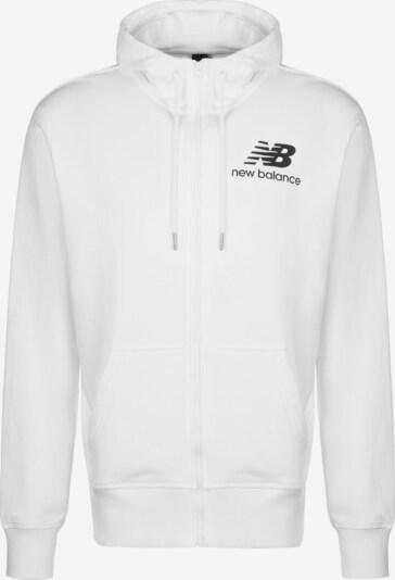 new balance Sweatjacke 'MJ91549' in schwarz / weiß, Produktansicht