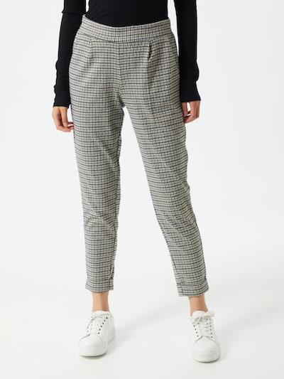 ICHI Hose in grau / schwarz / weiß, Modelansicht