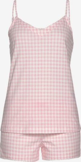 VIVANCE Schlafanzug in rosa / weiß, Produktansicht