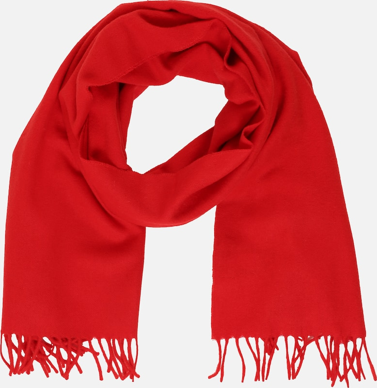 Tommy Jeans Schal 'TJW FLAG LOGO SCARF' in rot: Frontalansicht