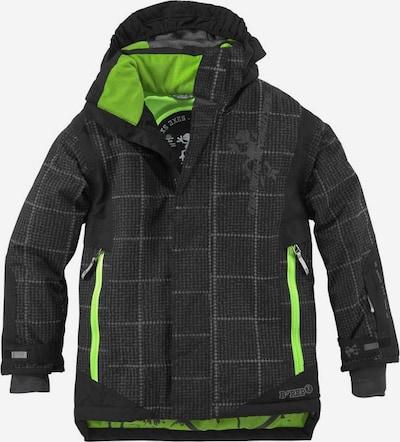 EXES Jacke in grau / limette / schwarz, Produktansicht