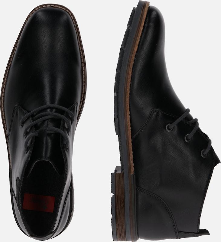 Tom Tailor, Műbőr chukka cipő, Fekete, 45