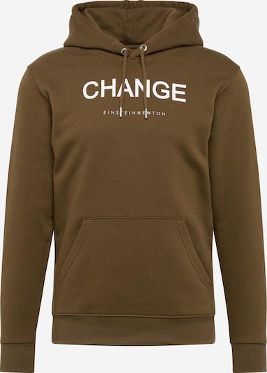 EINSTEIN & NEWTON Majica 'Nico Tin' | kaki / bela barva, Prikaz izdelka