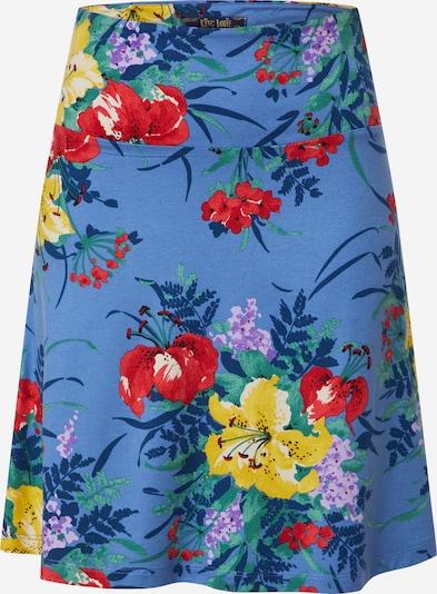 King Louie Spódnica 'Gladioli' w kolorze podpalany niebieski / mieszane kolory / pomarańczowo-czerwonym, Podgląd produktu