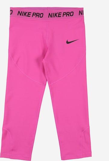 rózsaszín / fekete NIKE Sportnadrágok, Termék nézet